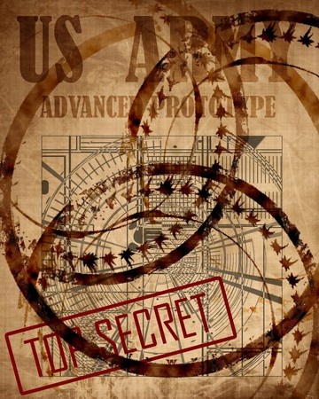 Old top secret US army design photo