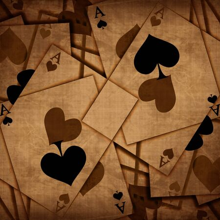 Playing cards background with soft shades photo