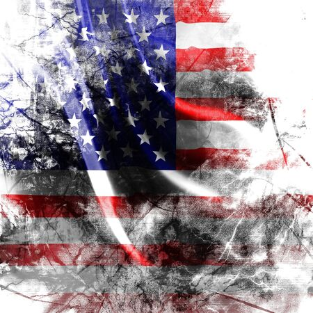 American flag background with a grunge touch