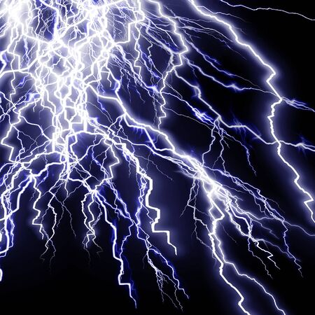 Intense lightning storm or electricity on a dark background Stock Photo - 4079494
