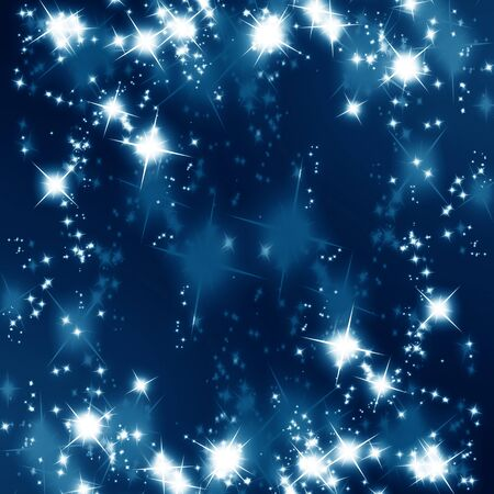 glitters and sparkles on a blue background Stock Photo - 4079516