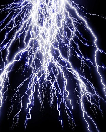 Intense lightning storm on a dark background Stock Photo - 4079493