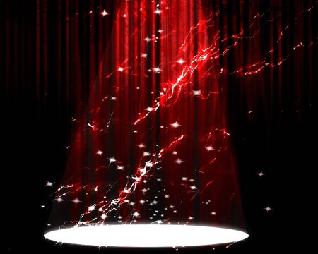 Movie or theater curtain with bright spotlight on it Stock Photo - 4148704