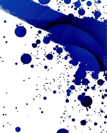 abstract blue background with some splatter on it Stock Photo - 4148845