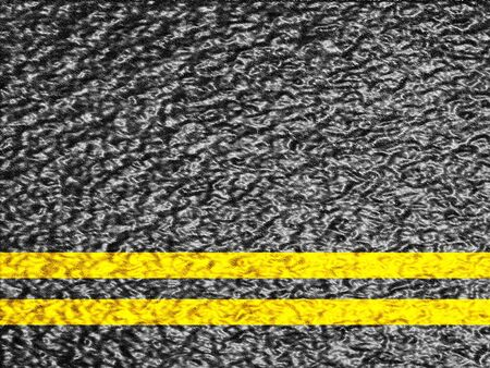 double lane: Asphalt background texture with a double yellow line