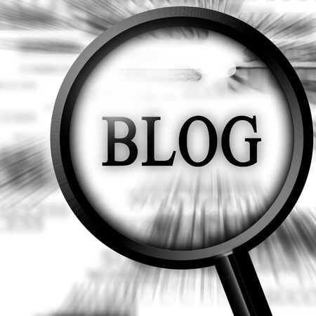 classifieds: blog in the newspaper with a magnifier