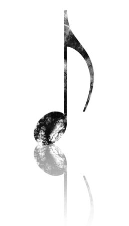 grunge music note on a white background Stock Photo - 4149062