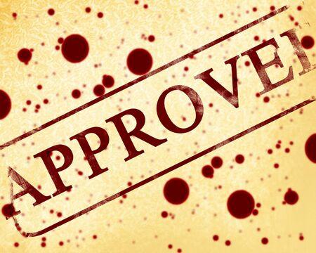 tampon approuv�: approuv� vieux tampon sur une feuille de papier de fond