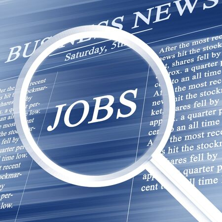 jobs in the news paper on a soft blue background Stock Photo - 4149117