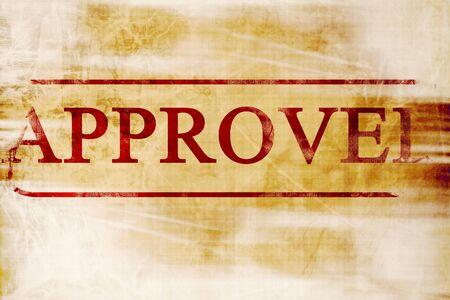 tampon approuv�: timbre approuv� sur un papier comme arri�re-plan