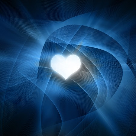 mariage: Abstract background with smooth lines and a heart in it Stock Photo