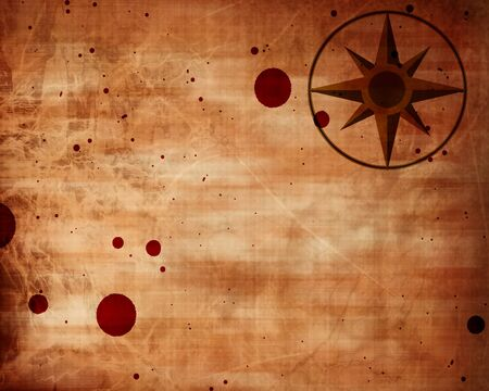 bloodied: Empty old paper texture with compass on it