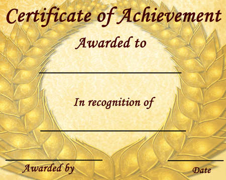 certificate of achievement with some stains on it Stock Photo - 4276576