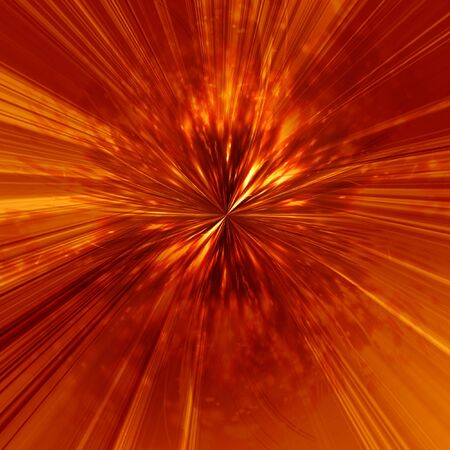 implosion: abstract explosion on a bright red background Stock Photo
