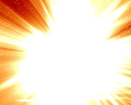 implode: bright explosion on a soft red background