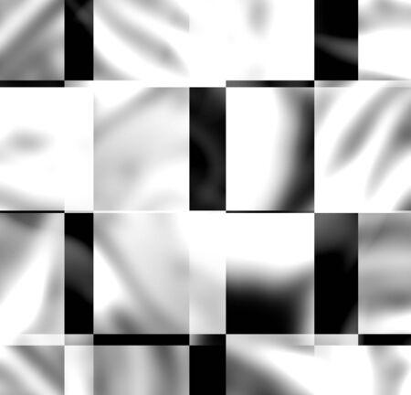 abstrait avec des carrés en noir et blanc