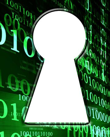 bits and bytes on a dark green background Stock Photo - 4385783