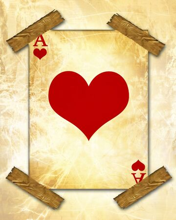 old playing card on a vintage background photo