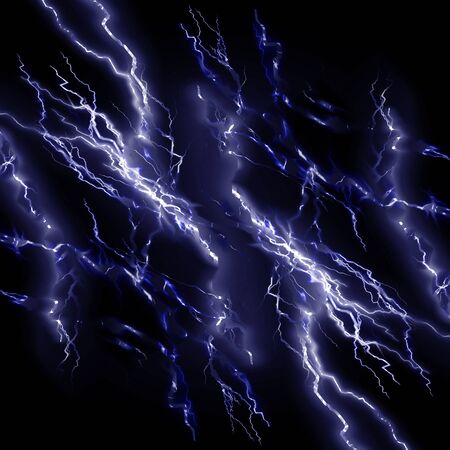 Intense lightning storm or electricity on a dark background photo