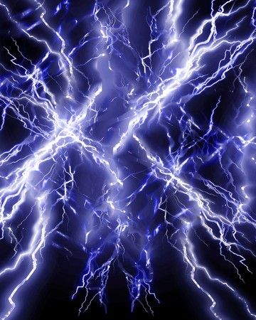 electrocute: lightning or electricity on a dark background