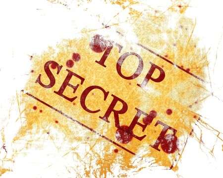 top secret stamp on a paper baackground photo