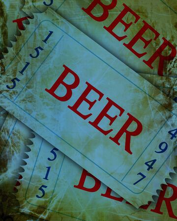 blue beer tickets with a grunge touch upon it Stock Photo - 4386027