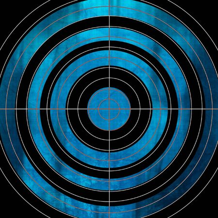blue target on a solid black background photo
