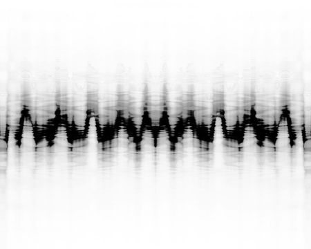 electrode: brain wave pattern on a white background