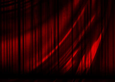 act: Movie or theater curtain with soft folds