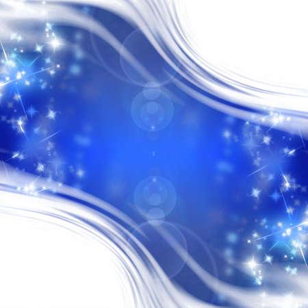 best wishes: bright sparkles on a dark blue background