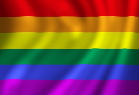 Gay pride flag waving in the wind Stock Photo - 4859785