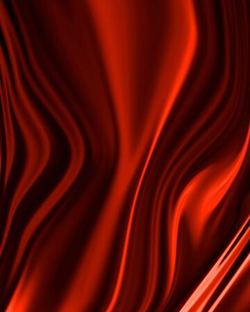 twirling: Red drapery with some smooth folds in it Stock Photo