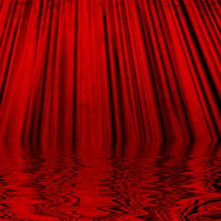 famous writer: Movie or theater curtain with soft reflection