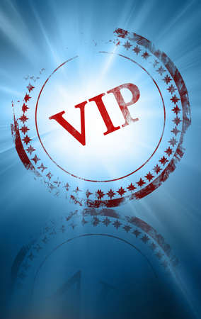 notability: red vip stamp on a blue background