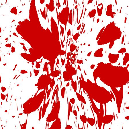 Blood splatter on a solid white background photo