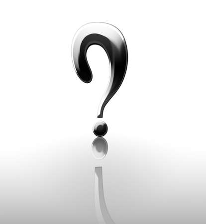 3d question mark on a white background Stock Photo - 4907330