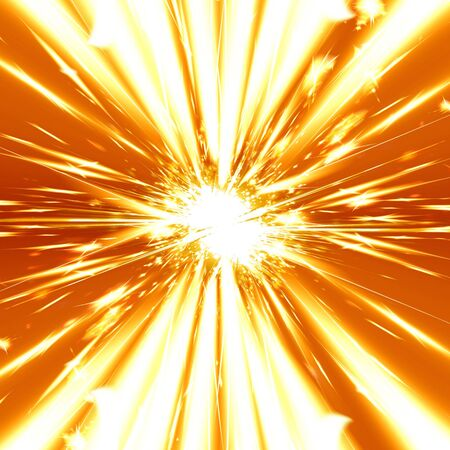 implode: heavy explosion on a bright orange background