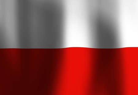 Polish flag waving in the wind Stock Photo - 4907890