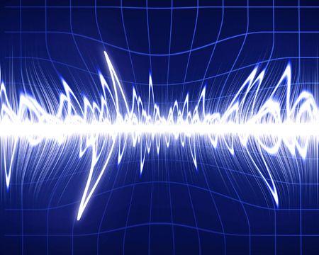 sound wave on a dark blue background photo