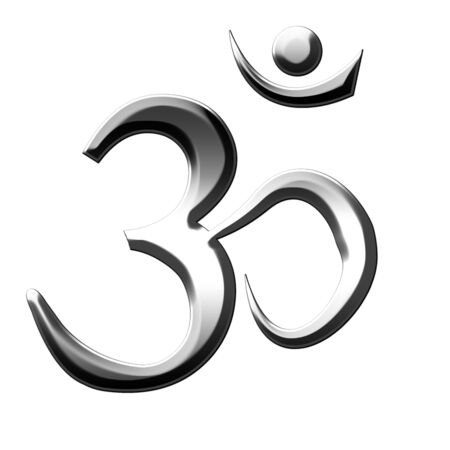 om aum symbol on a white background photo