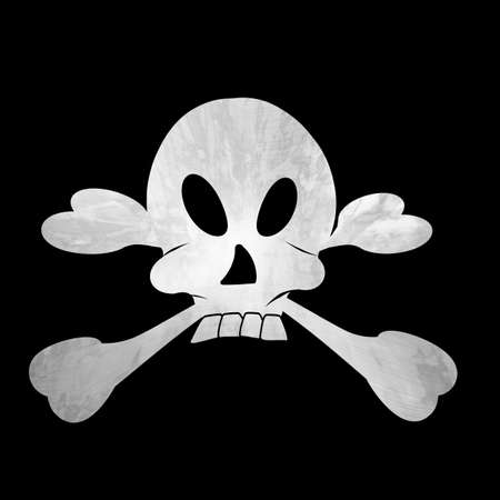 Pirate symbol on a solid black background photo