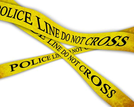 Police line do not cross on a white background Stock Photo - 4907796