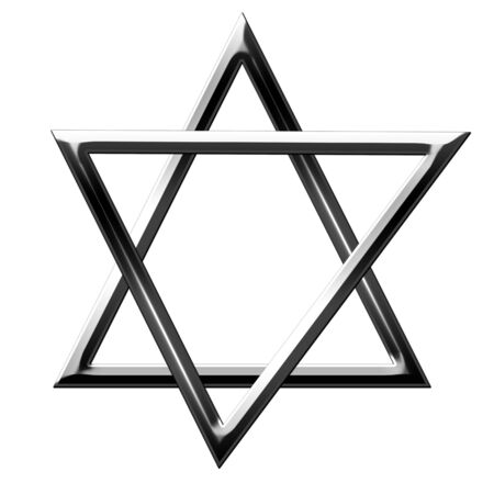 star of david on a white background Stock Photo - 4907718