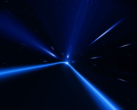 traveling in space: time warp in the galaxy Stock Photo - 4908133