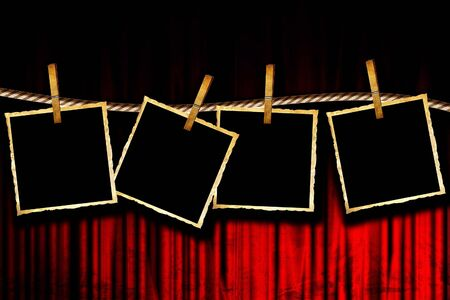 Movie or theater curtain with some pictures Stock Photo - 4907663