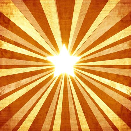 Abstract rays on a vintage piece of paper with integrated star photo