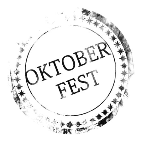 beer festival: black stamp with oktober fest written on it Stock Photo