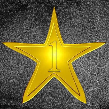 walk of fame: golden star from the hollywood walk of fame