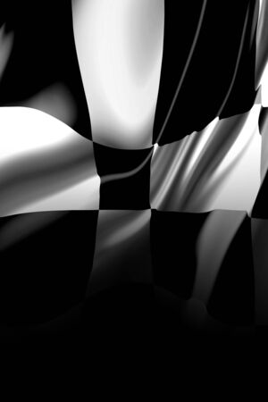 the fastest: Checkered flag with some smooth folds in it