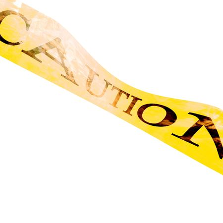 police line 'caution' on a white background Stock Photo - 5008918